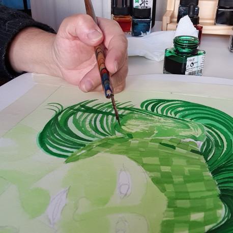 Ilustración con tintas
